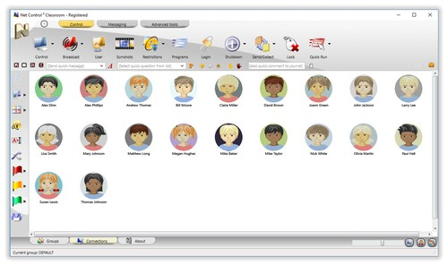 Net Control 2 Classroom - Avatar View (built-in templates)